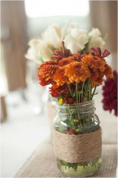 mason-jars-twine-vase-fall-wedding-decor